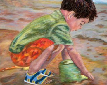 """18"""" x 36"""" Pastel Painting on Canson Pastel Paper Adapted from Personal Photograph"""