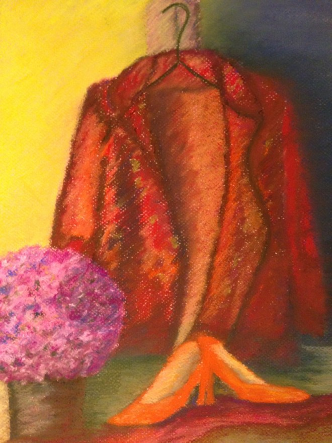 """10""""x 14"""" Pastel Still-Life on Canson Pastel Paper"""