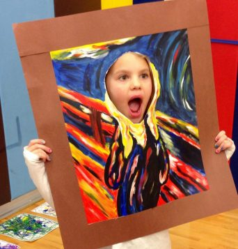 """18 """"x 24"""" Acrylic Painting on Paper Adapted from Edvard Munch's, """"The Scream"""""""