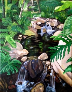 "16"" x 20"" Oil Painting on Canvas Adapted from Personal Photograph"