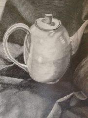 """18"""" x 24"""" Still-Life Graphite Drawing on Strathmore Drawing Paper"""