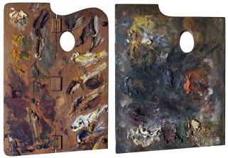 Palette of Paula Modersohn-Becker / Palette of Henri de Toulouse-Lautrec