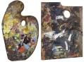 Palette of Claude Monet / Palette of Édouard Manet