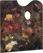 Palette of Edgar Degas