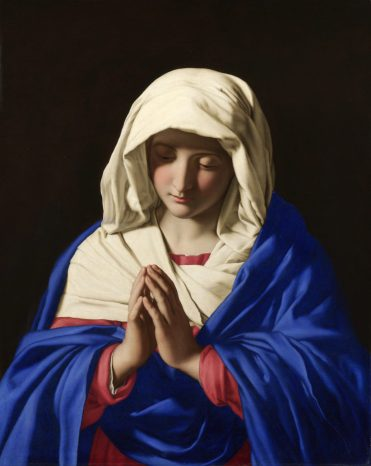 The Virgin in Prayer, Sassoferrato, 1640-50