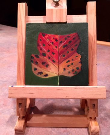 """4"""" x 4"""" Oil Painting on Wood Adapted from Personal Photograph"""