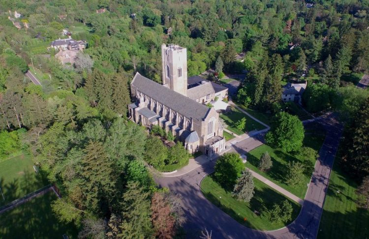 Drone View of Cranbrook Christ Church