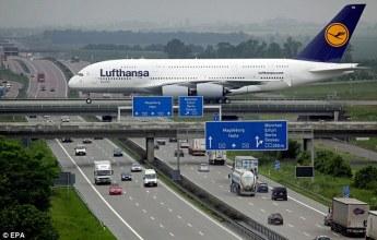 A380 Landing in Germany