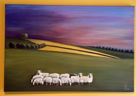 """24"""" x 36"""" Oil painting on Canvas Adapted from Photograph"""
