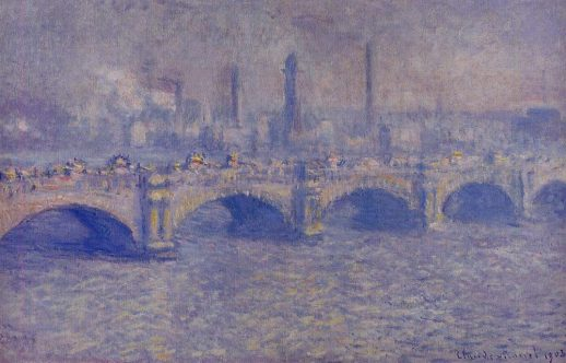 Claude Monet, Waterloo Bridge, Blurred sun, 1903