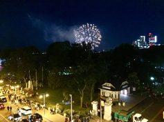 Fireworks Over Falls