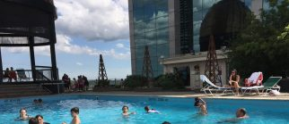 Swimming at the Top of Hotel